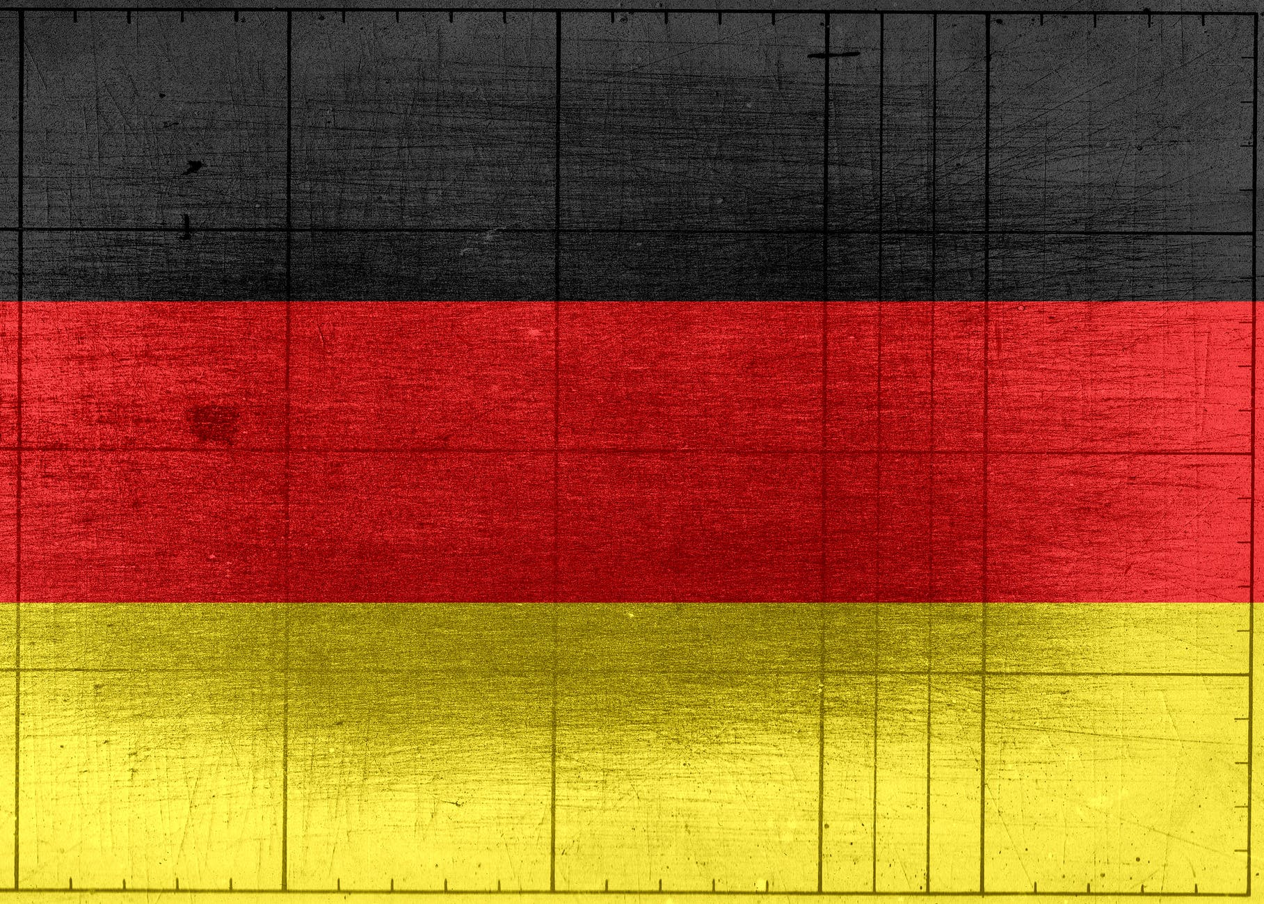 german flag painted on wooden background